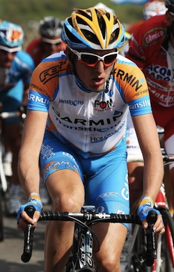 Dan Martin, Garmin-Transitions, Liège-Bastogne-Liège, 2010. Photo: Bryn Lennon/Getty.