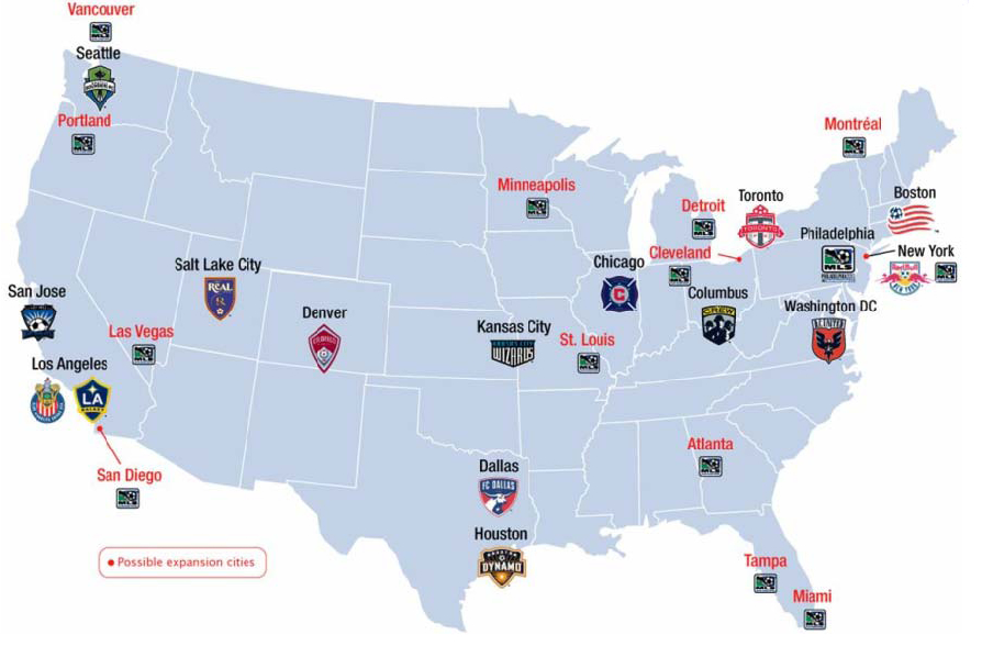 For Major League Soccer It Isnt Just About Team NY But - Maps soccer