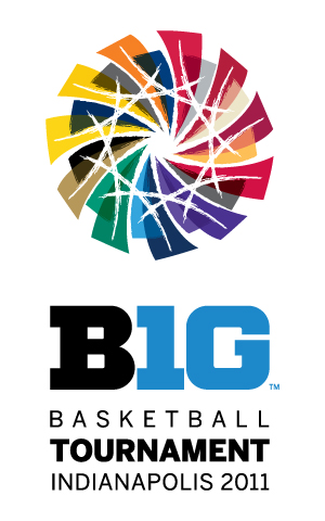The new Big Ten Basketball Tournament logo.