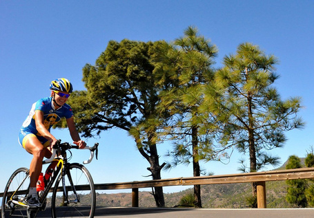 Emma Johansson training in the Canary Islands, 2011. Photo: Martin Vestby/Hitec Products UCK Team.