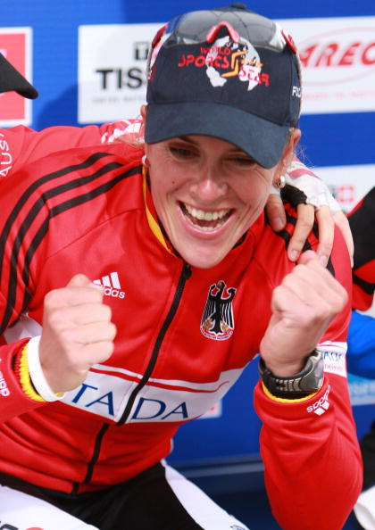 Hanka Kupfernagel, World Championship Time Trial, 2007. Photo: Thomas Niedermueller/Getty.