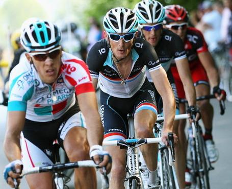 Philippe Gilbert, Fränk Schleck, Liège-Bastogne-Liège 2011. Photo: Bryn Lennon/Getty.