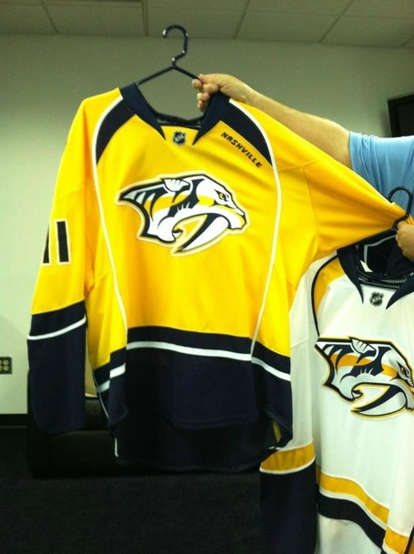 2d15ffd60 Our First Look At The New Nashville Predators Jerseys  - On the ...