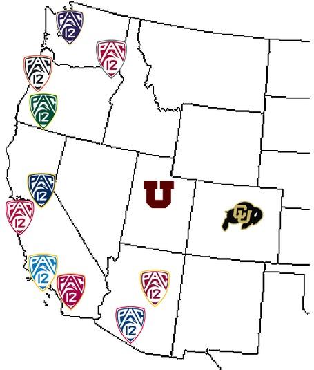 Pac-12 map - Colorado