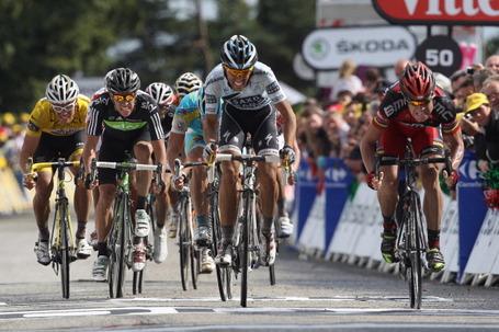 Cadel Evans, Alberto Contador, Tour de France, Stage 4, Mûr de Bretagne