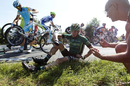 Europcar's Vincent Jerome takes it easy in the race to the bottom