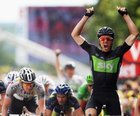 Tour de France, Edvald Boasson Hagen, Team Sky, Matthew Goss, HTC-Highroad
