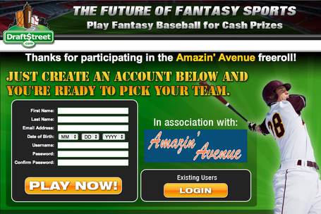 Exclusive DraftStreet fantasy action for Amazin' Avenue readers.