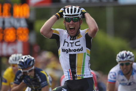 Mark Cavendish, HTC-Highroad, Tour de France 2011, Stage 7, Châteauroux. Photo: Michael Steele/Getty.