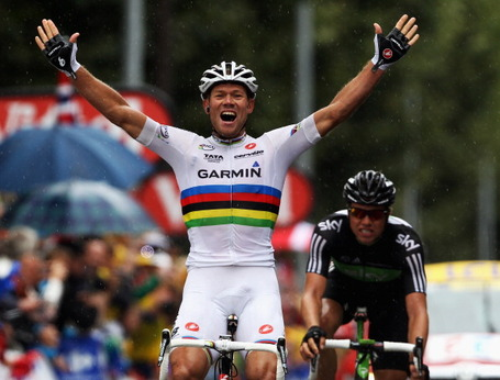Thor Hushovd, Garmin-Cervélo, Tour de France, stage 16, Gap. Bryn Lennon/Getty.