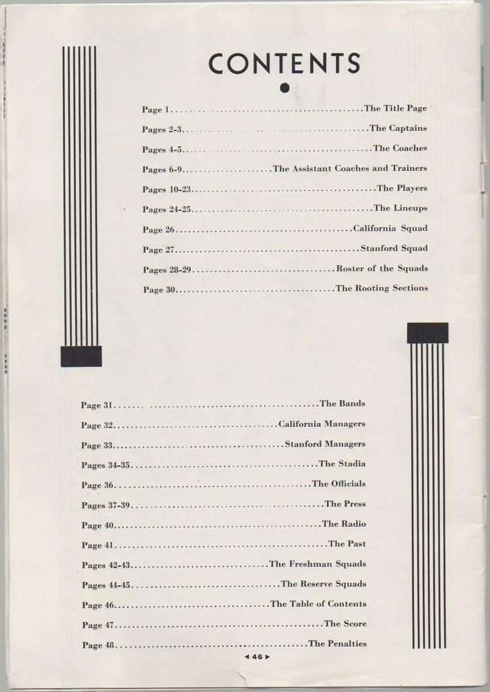 1929 Big Game Program Stanford Indian Debuts Rule Of Tree
