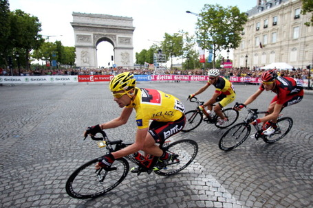 Cadel Evans, BMC Racing Team, Yellow Jersey, Tour de France 2011.
