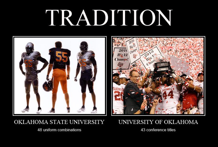 What do Oklahoma fans think of Oklahoma State's new uniforms?