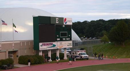 EMU's new scoreboard lost power in the 2010 season opener