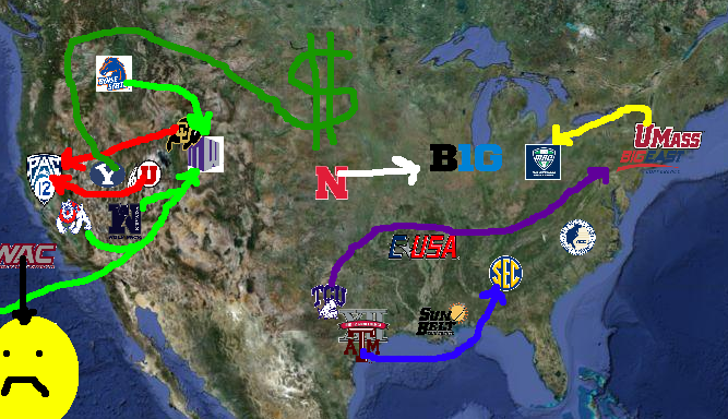 College Football Conference Realignment Recap Meet Your New