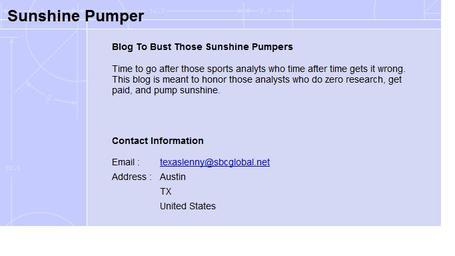 Sunshinepumpers