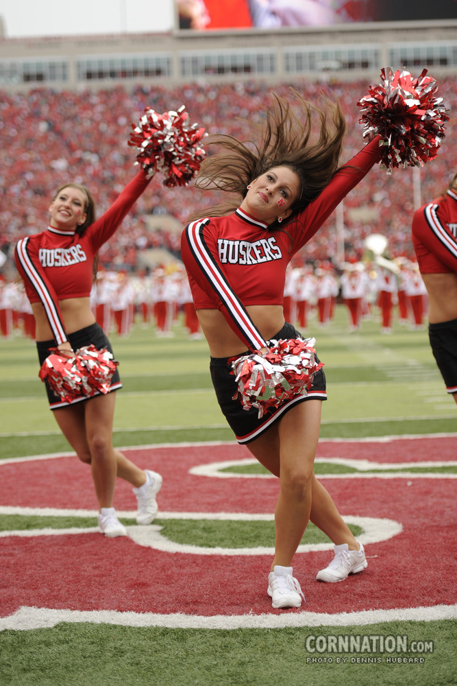 Nebraska spirit squad cheerleaders