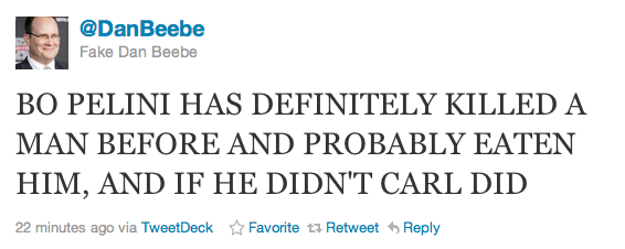 Dan Beebe Twitter Rant