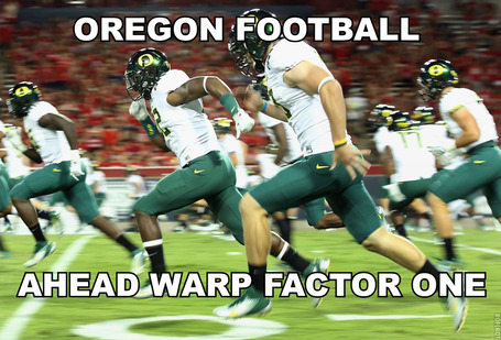 Oregon Ducks Football is straight Star Trek