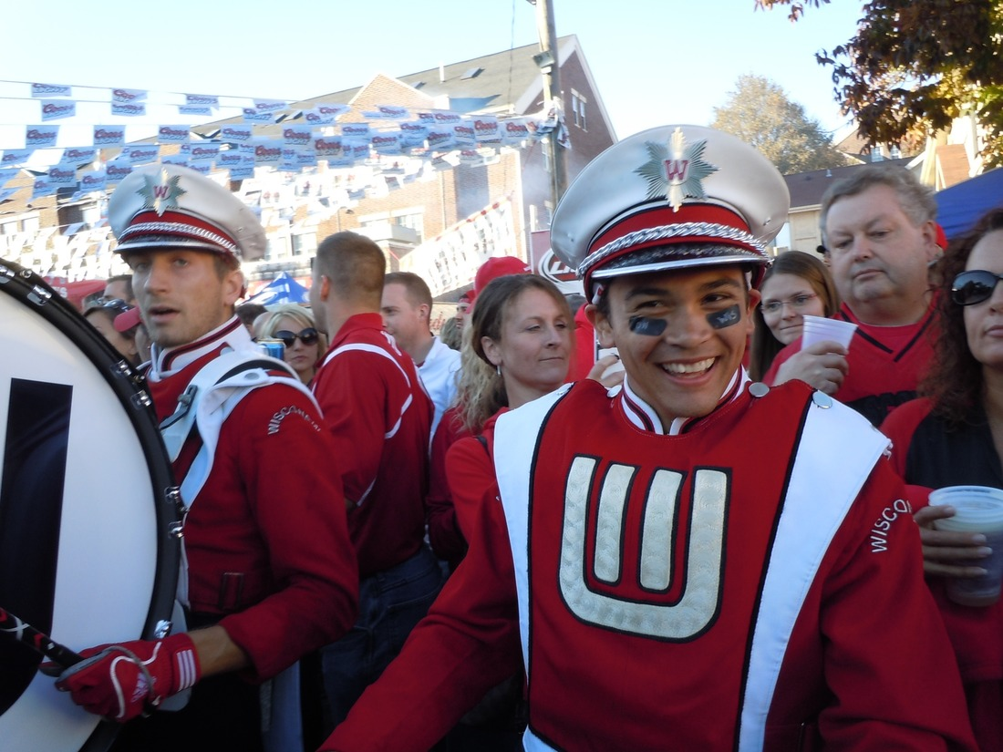 Wisconsin Band Badger Drum Line