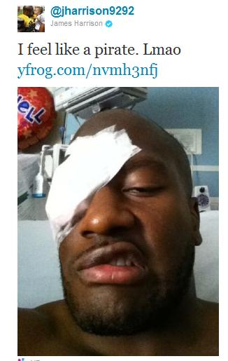 Eyeglass Frame Repair Pittsburgh : James Harrisons Eye Injury Will Keep Him Out A Number Of ...