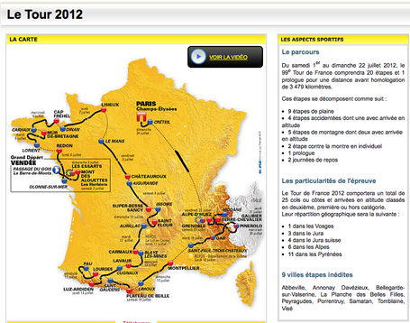 Tour de France 2012 route leak