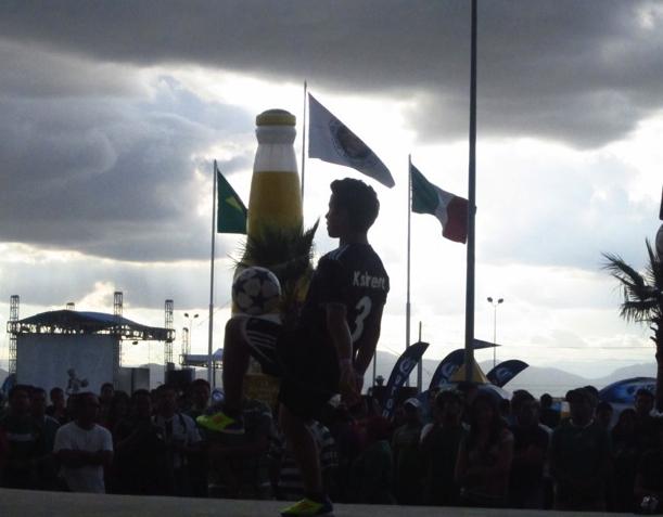 outside Estadio Corona