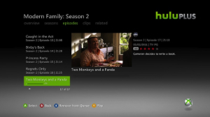 Hulu_for_xbox_360_show_menu