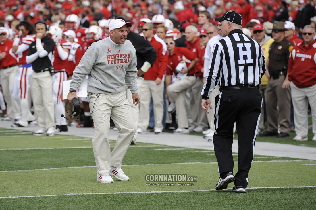 Bo Pelini Screaming At Ref