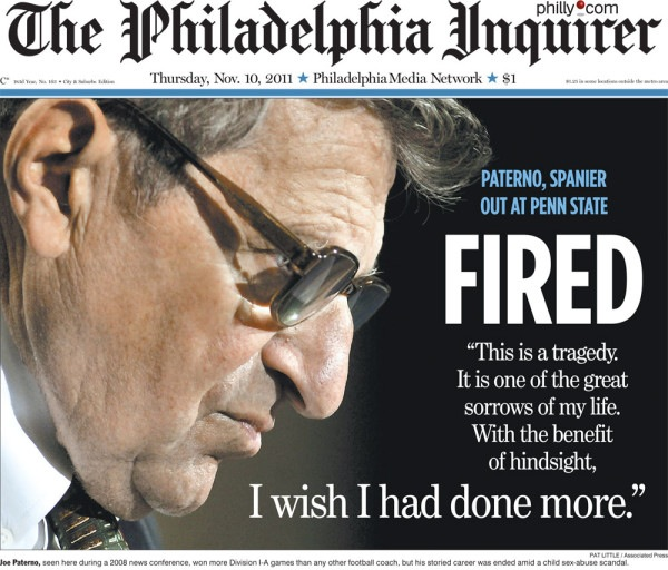 Paterno fired