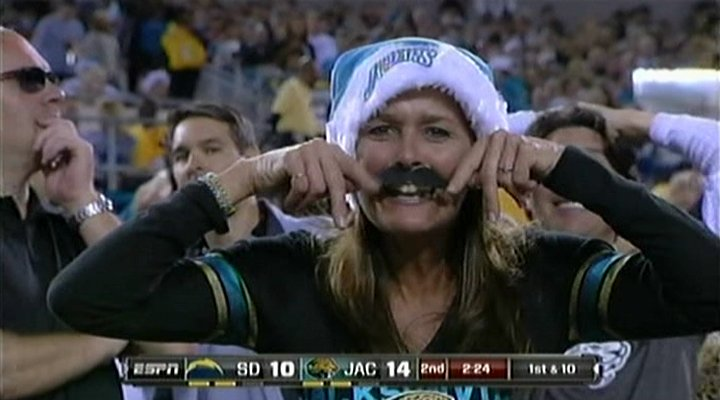 Photo Jaguars Fans Show Up In Full Mustache Force To