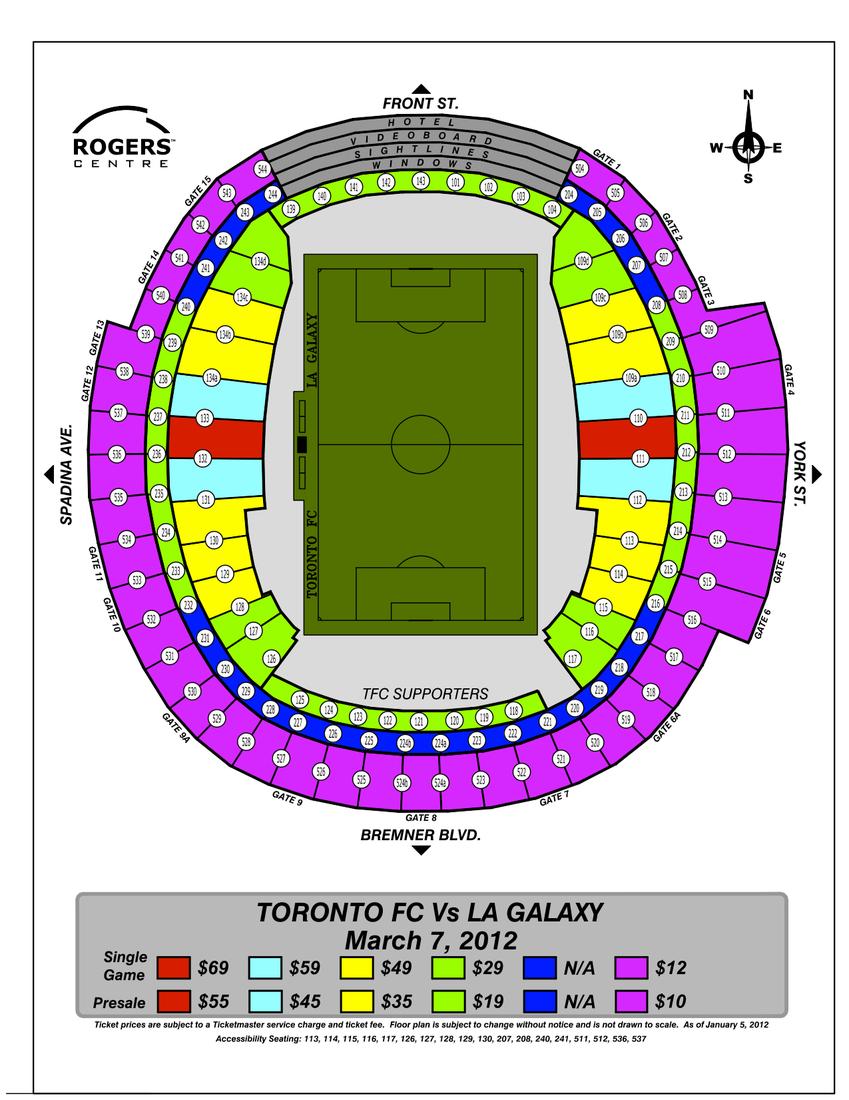 Toronto fc Seating Chart Toronto fc Seating