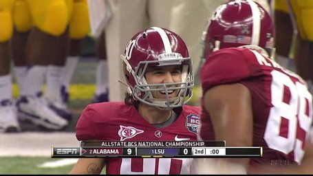 2012 BCS National Championship Game Halftime Score: Alabama Leads LSU 9-0 ...