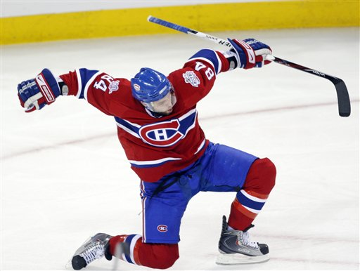 Price shines as habs make easy work of hawks eyes on the prize - Image hockey canadien ...