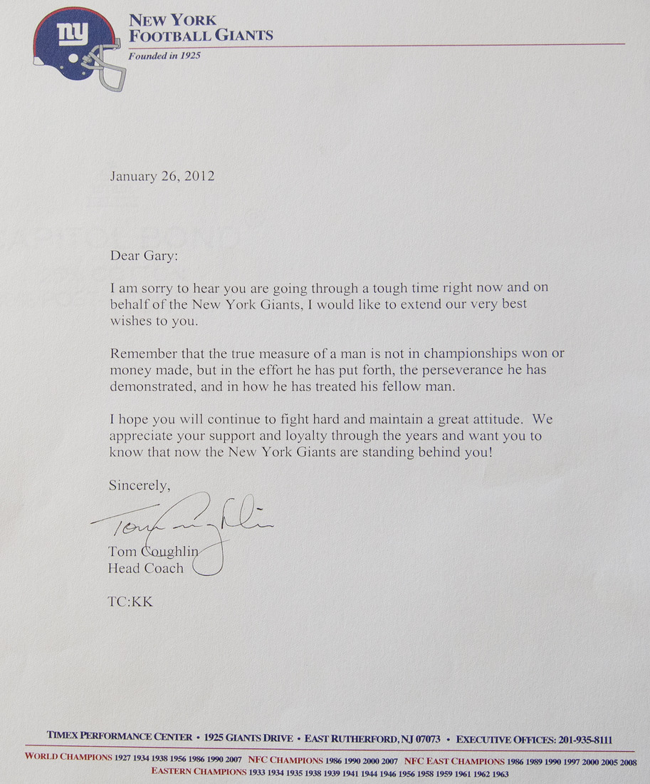 The letter from Tom Coughlin