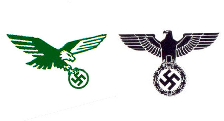 Video nfl logo redesigns from 1996 2012 a history of pissed off nazi eaglemedium voltagebd Choice Image