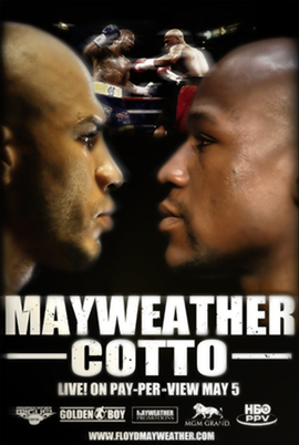 Mayweather vs Cotto: Fight Poster From Mayweather's Official Site ...
