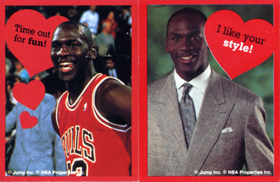 Michael Jordan Would Like To Wish You A Happy Valentines Day – Basketball Valentine Cards