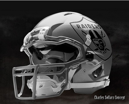 Here are a couple of the concept designs he has for Raider helmets: