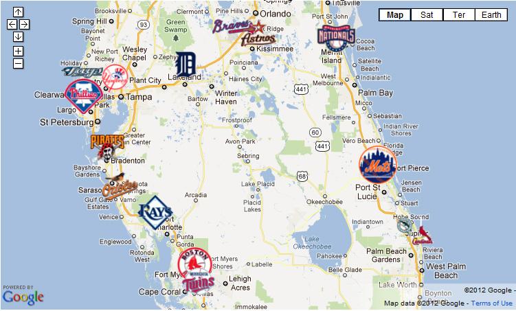 Spring Training In Florida Map ~ CINEMERGENTE