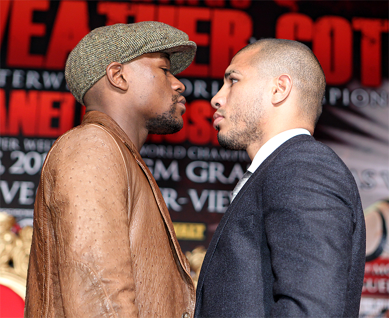 Mayweather vs Cotto: Photos From LA Press Conference and Quotes ...