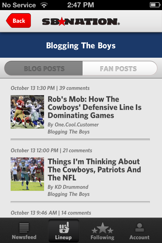 SB Nation iPhone app