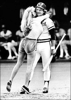 Girl runs the bases at baseball field - 1 part 1