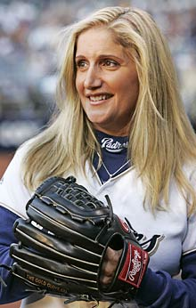 Padres ball girl