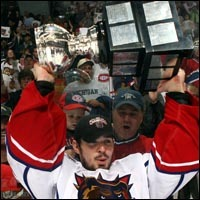 Price with Calder Cup