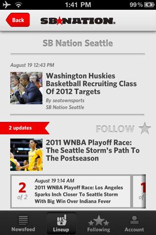 SB Nation iPhone app