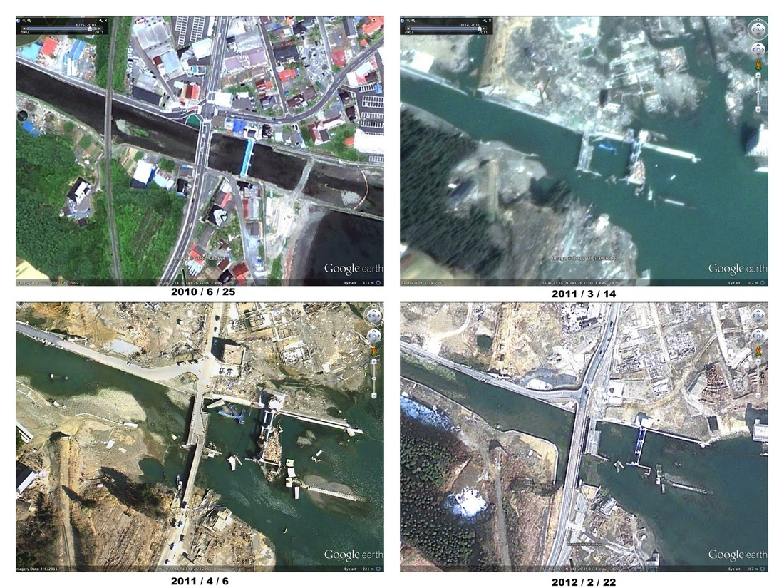 Updated Google Maps satellite images show Japan one year