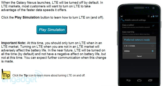 Sprint Galaxy Nexus training guide leaks, handset to ship with LTE