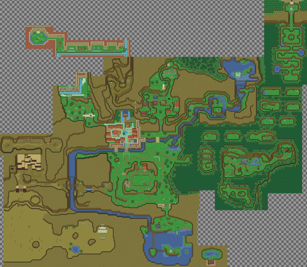 Zelda: Ocarina of Time' world recreated in top-down 2D - The Verge on zelda a link to the past map background, link to the past turtle rock map, spirit tracks zelda a link to the past map, zelda dark world map, legend of zelda link to the past dungeon map, zelda skyward sword world map, a link to the past dark palace map, a link to the past overworld map, link's awakening world map, zelda 1 secrets, link to the past item map, nes zelda world map,