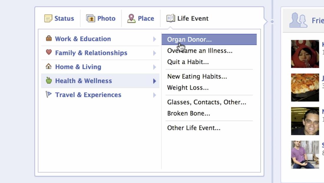 mark zuckerberg announces organ donation feature for facebook  via assets sbnation com